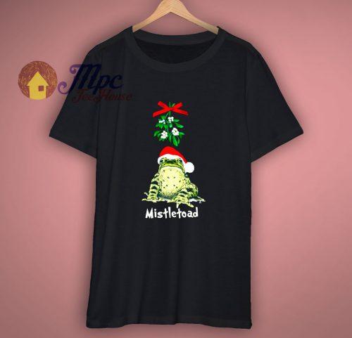 Mistletoad Shirt Funny Christmas Xmas Mistletoe Parody
