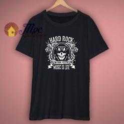Music is life T Shirt hard rock festival biker top 1