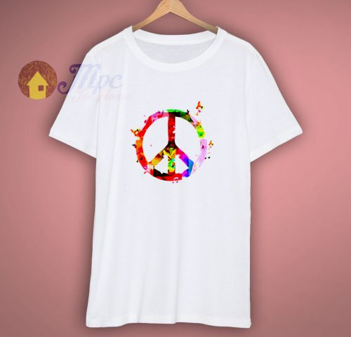 Peace and Music Musical Peace Symbol Music Lovers T Shirt
