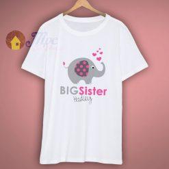 Personalized Elephant Big Sister T Shirt