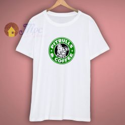 Pitbulls and Coffee funny saying Womens short sleeve t shirt