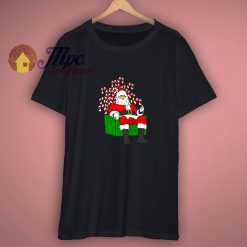 Santa Claus on Candy Throne T Shirt Funny Parody Christmas