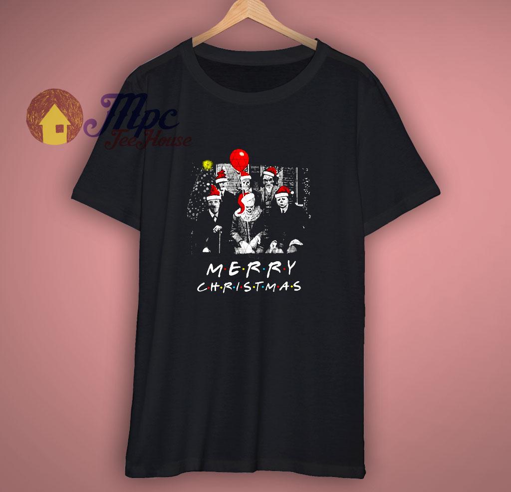 Santa Horror Characters Merry Christmas T Shirt