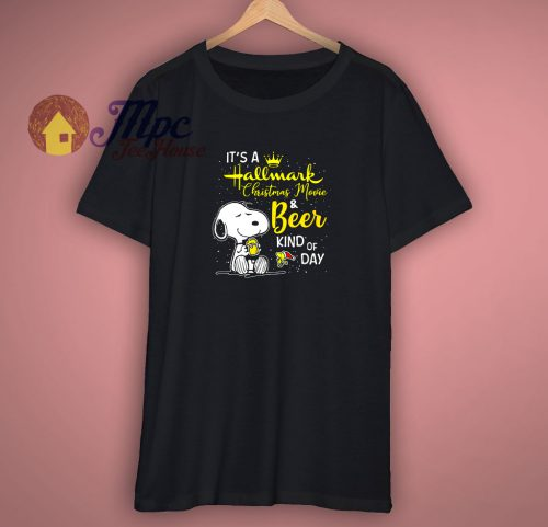 Snoopy And Woodstock Its A Hallmark Christmas Movie T Shirt