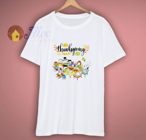 Snoopy and Peanuts with friends Thanksgiving T Shirt