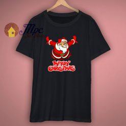 Santa Jumping Mery Christmas Funny T shirt