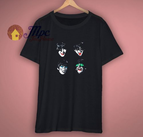 The Beatles Funny Parody KISS T Shirt