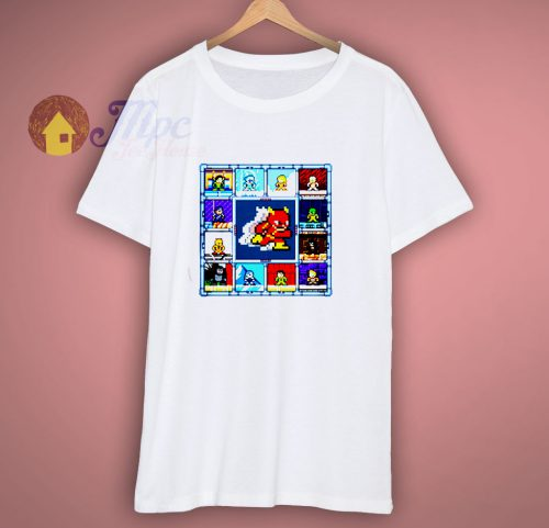 The Flash DC Barry Allens tv show cartoon portrait t shirt