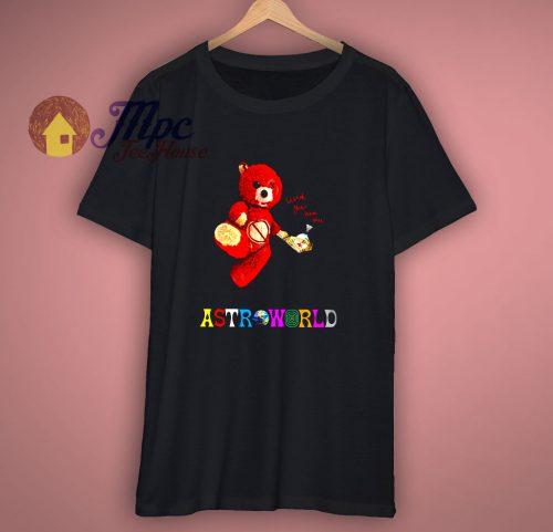 Travis Scott Astroworld Bear Exclusive T Shirt