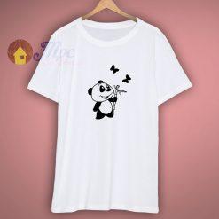 Vansty Bamboo Panda Stickers 100 Cotton T Shirt