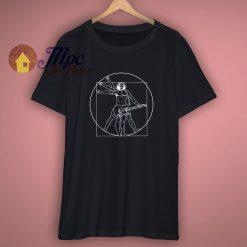 Vitruvian Man Guitar Shirt Da Vinci Guitarist T Shirt