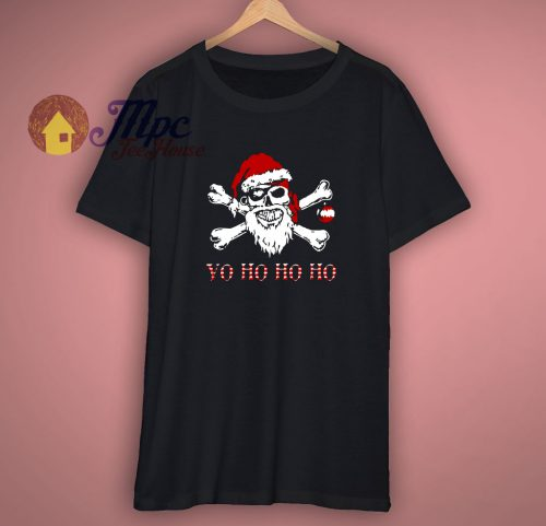 Yo Ho Ho Ho Shirt Christmas Funny Holiday Party Pirate Tshirt