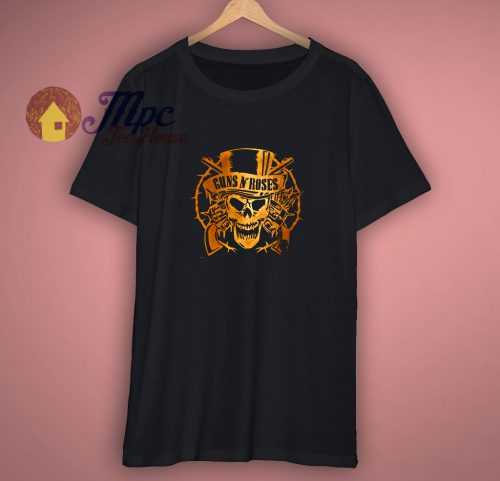 Guns N Roses Bronze Logo T Shirt
