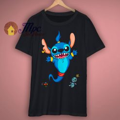 Aladdin Genie Stitch Art T Shirt