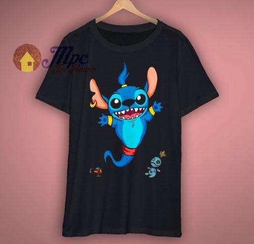 Aladdin Genie Stitch Art T Shirt