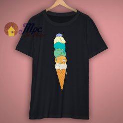 Animal Ice Cream Cute Graphic T Shirt