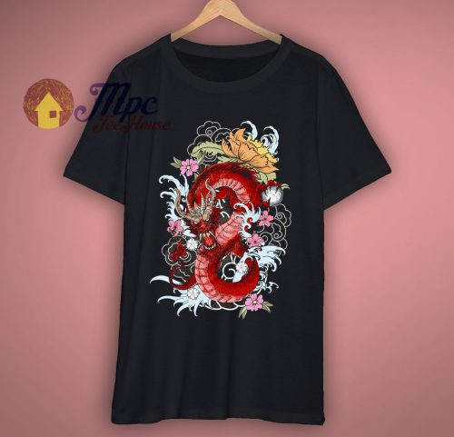 Awesome Dragon Art Graphic T Shirt
