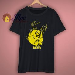 Bear Black graphic T Shirt