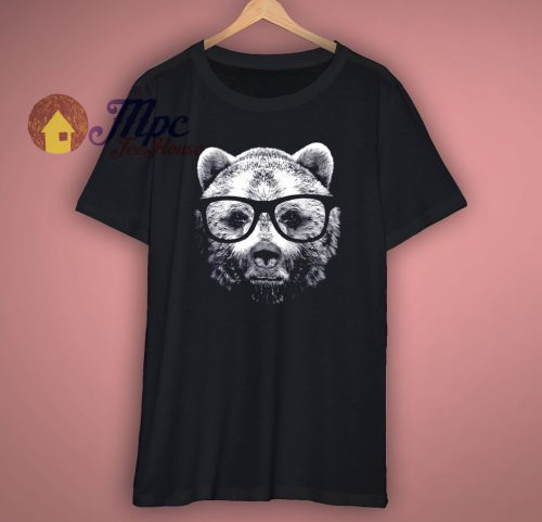 Bear In Glasses T Shirt