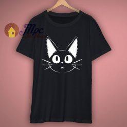 Black Kitty Face Cute T Shirt