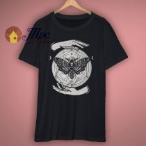 Butterfly Skull Graphic T Shirt