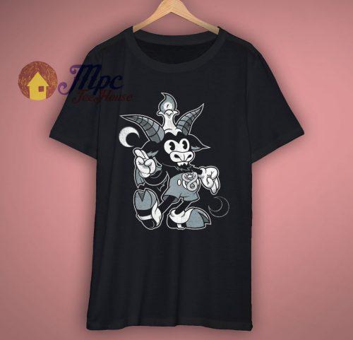 Cartoon Baphomet Funny T Shirt
