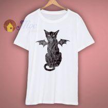 Cat Creepy Halloween T Shirt