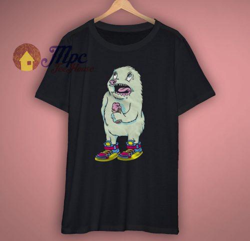 Cute Monster Ice Cream T Shirt