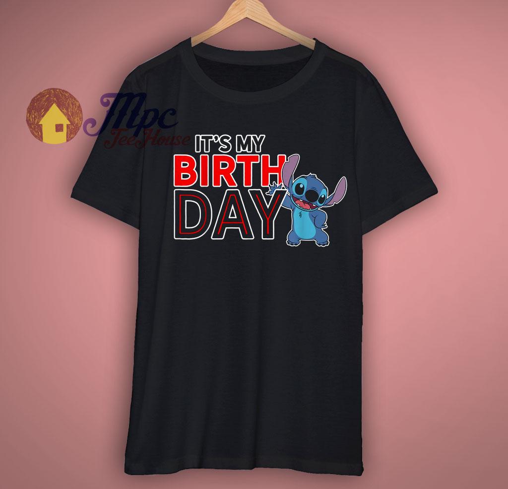 Disney Lilo and Stitch Happy Birthday T Shirt