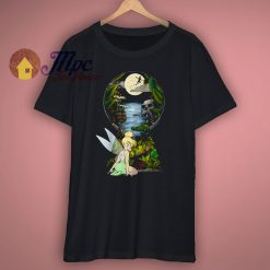 Disney Tinkerbell Keyhole Graphic T Shirt