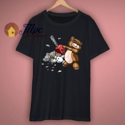 Evil Teddy Bear Cartoon Funny T Shirt