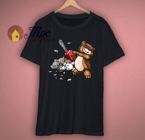 Evil Teddy Bear Cartoon Funny T Shirt