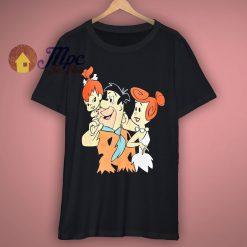 Flintstones Fred Wilma Pebbles Cartoon T Shirt