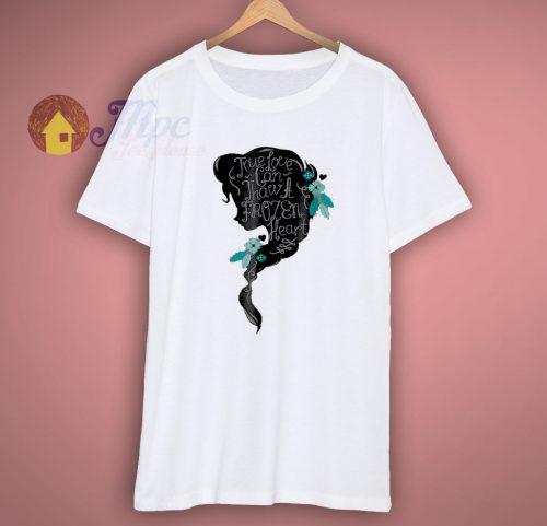 Frozen Elsa Head Profile Love Thaws T Shirt