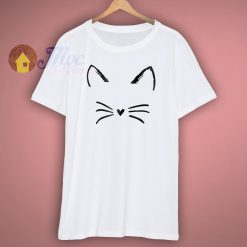 Graphic Cat Print Cute T Shirt