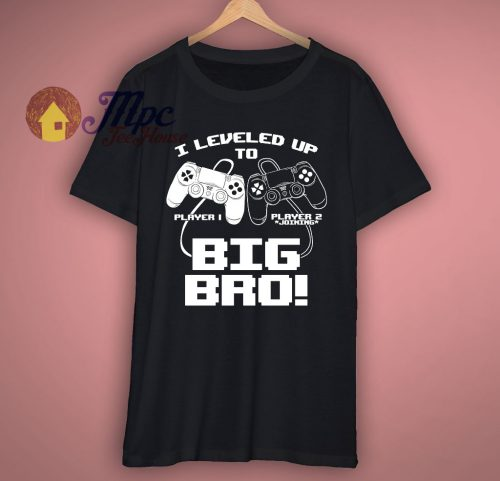 I Leveled Up To Big Bro T Shirt 1