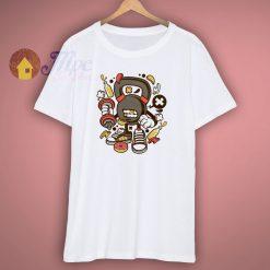 Kettlebell Workout Cartoon T Shirt