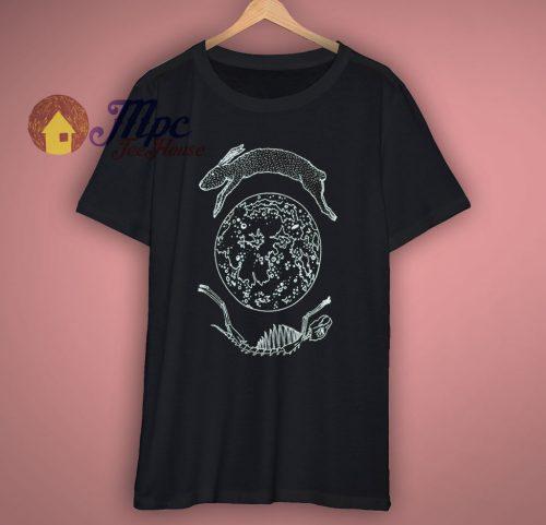 Lunar Hare Black Screen Moon T Shirt