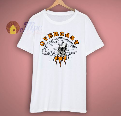 Overcast Skull Grapic T Shirt