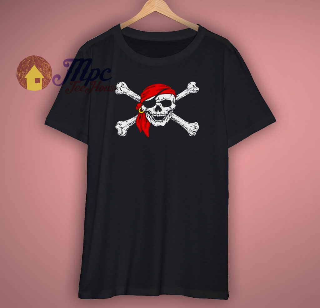 Pirate Skull Crossbones Party T Shirt