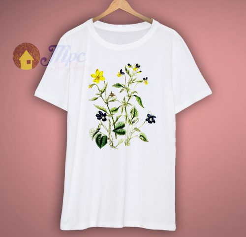 Plant Graphic Wild Flower T Shirt