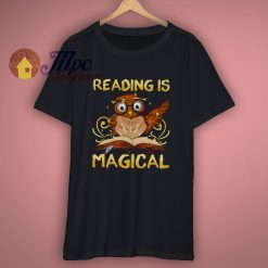 Reading Is Magical Owl T Shirt