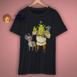 Shrek Cartoon Smoking FunnyT Shirt