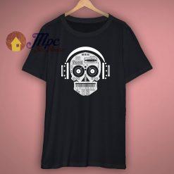 Skull Disc Jockey Headphones T Shirt