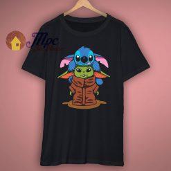 Stitch with Baby Yoda T Shirt