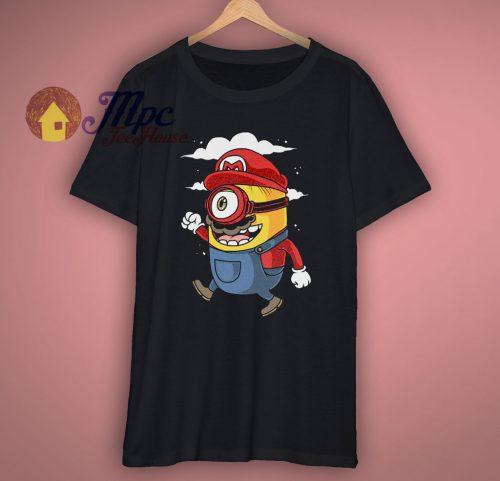 Super Mario Minions Design T Shirt