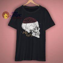 Think Skull Graphic T Shirt