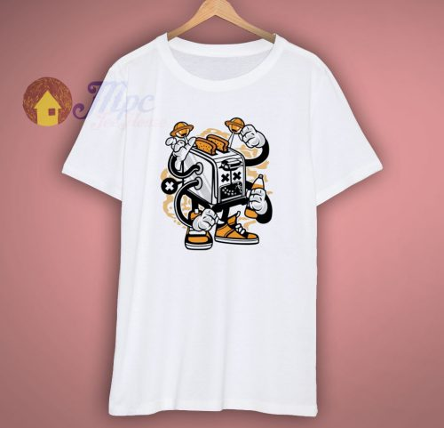 Toaster Out Of Space Cartoon T Shirt