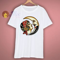 Traditional Moon Graphic T Shirt