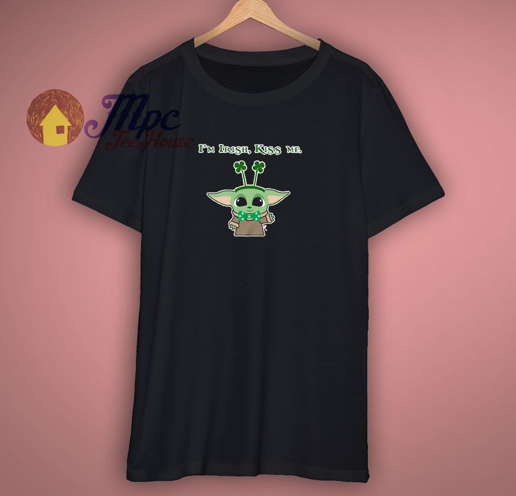 Baby Alien Kiss Me I Am Irish T Shirt